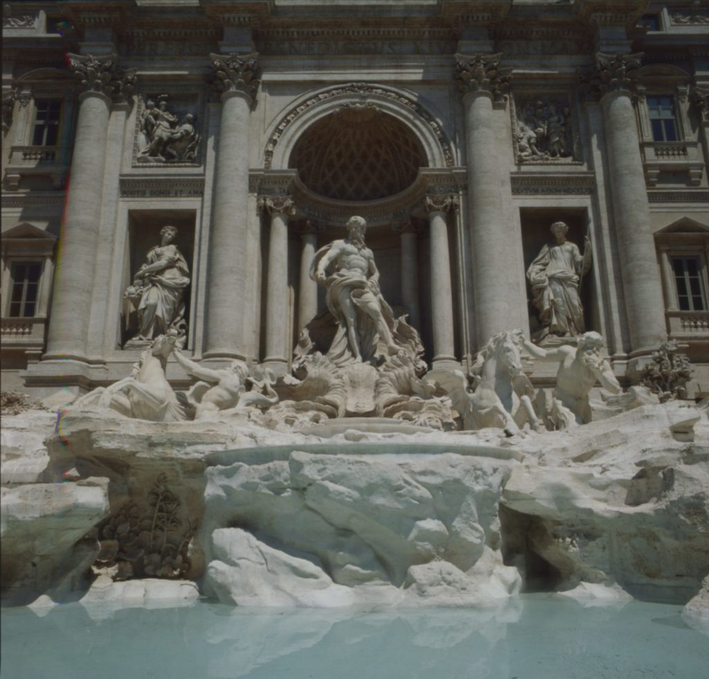 2ac0841812e0 1990 The front of the Trevi Fountain at the end of the treatment. 2014 -2015  ...